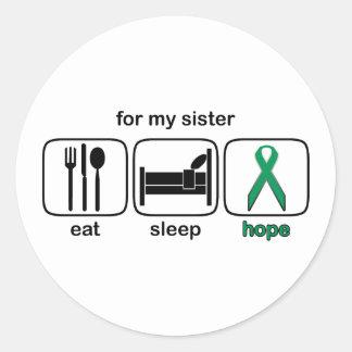 姉妹は睡眠の希望-腎臓の蟹座--を食べます ラウンドシール