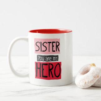 姉妹私の英雄のマグです ツートーンマグカップ