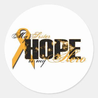 姉妹私の英雄-白血病の希望 ラウンドシール