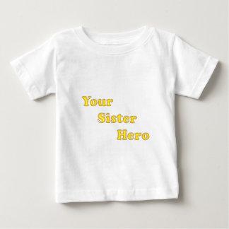 姉妹英雄(白い) ベビーTシャツ