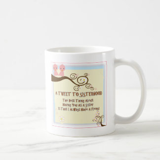 姉妹関係のさえずり コーヒーマグカップ