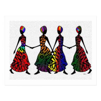 姉妹関係のアフリカのダンス ポストカード