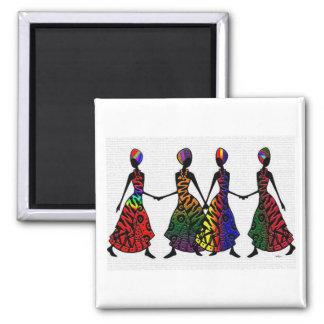 姉妹関係のアフリカのダンス マグネット
