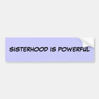 姉妹関係は強力です バンパーステッカー