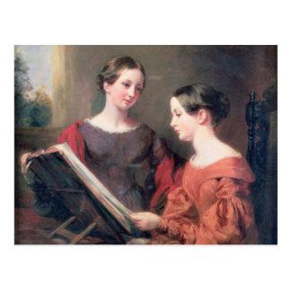 姉妹1839年 ポストカード