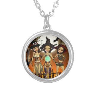 姉妹3の魔法使いの円形の吊り下げ式のネックレス シルバープレートネックレス