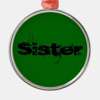 姉妹 メタルオーナメント