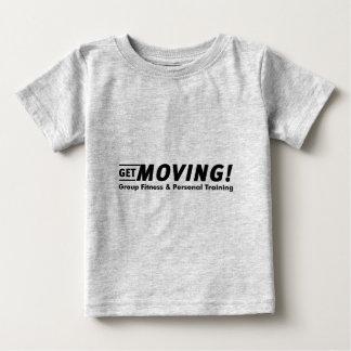 始めて下さい! フィットネス及び個人的な訓練を分けて下さい ベビーTシャツ