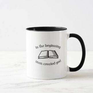 始めで人は神を作成しました マグカップ