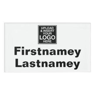 姓および名のための区域の会社のロゴ 名札