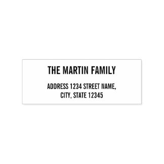 姓のはっきりしたな文字の差出人住所 ラバースタンプ