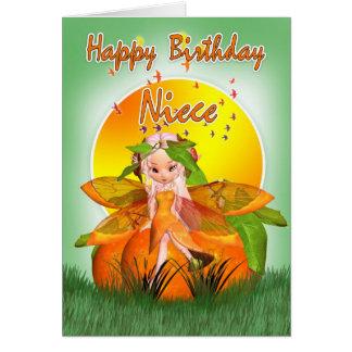姪のバースデー・カード- Mooniesの柑橘類の妖精 カード