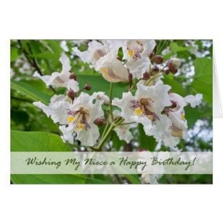 姪、Catalpaの花のための誕生日 カード