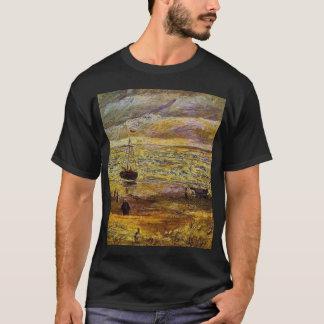 姿が付いているフィンセント・ファン・ゴッホ、ビーチおよび海との Tシャツ