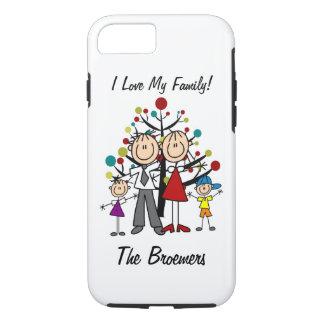 姿のパパ、お母さん、女の子、男の子のiPhone 7を付けて下さい iPhone 8/7ケース