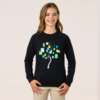 姿の金属の抽象的な木 スウェットシャツ