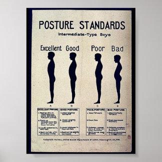 姿勢の標準 ポスター