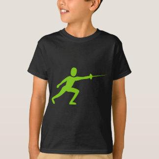 姿-火星人の緑--を囲います Tシャツ