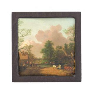 姿、農家およびミルの景色 ギフトボックス