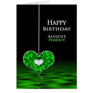威厳があるな誕生日- Birthstone - -ペリドット グリーティングカード