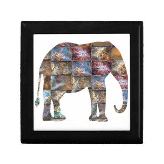 威厳のあるでフレンドリーな動物: 象の大理石のタイル ギフトボックス