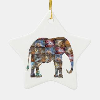 威厳のあるでフレンドリーな動物: 象の大理石のタイル セラミックオーナメント