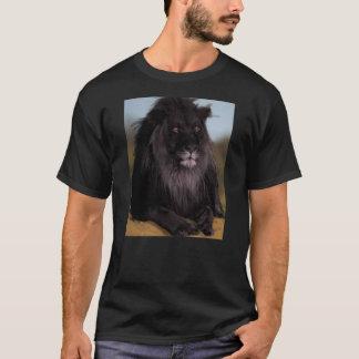 威厳のあるで黒いライオン Tシャツ