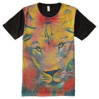 威厳のあるなアフリカのライオンのアクリルの野性生物の芸術 オールオーバープリントT シャツ