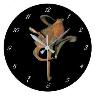 威厳のあるなタコの円形の柱時計(数と) ラージ壁時計