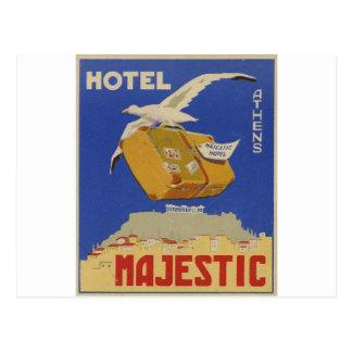 威厳のあるな広告アテネ古いギリシャのホテル ポストカード