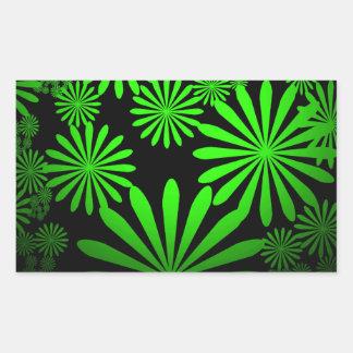 威厳のあるな緑 長方形シール