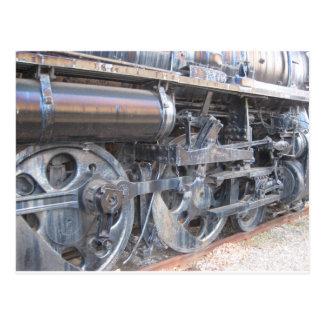 威厳のあるな鉄馬の鉄道の鉄の車輪 ポストカード