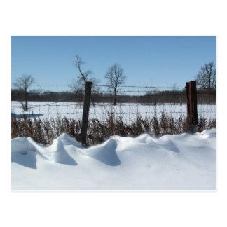 威厳のあるな雪 ポストカード