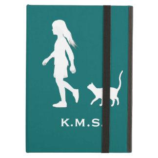 娘および猫: 小さな女の子および彼女の子猫 iPad AIRケース