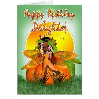 娘のバースデー・カード- Mooniesの柑橘類の妖精- Af カード