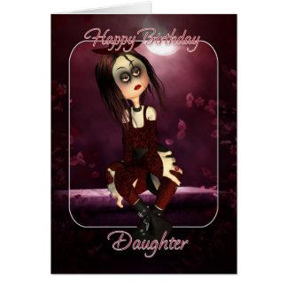 娘のバースデー・カード- Mooniesの縫いぐるみ人形のゴシック- G カード