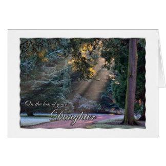 娘の日曜日あなたの光線の損失の悔やみや弔慰 カード