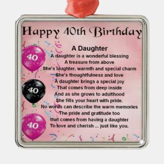 娘の詩の第40誕生日 メタルオーナメント
