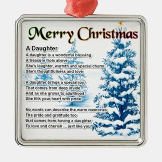 娘の詩-クリスマスのデザイン メタルオーナメント