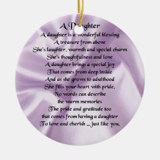 娘の詩-薄紫の絹 セラミックオーナメント