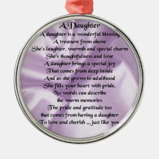 娘の詩-薄紫の絹 メタルオーナメント