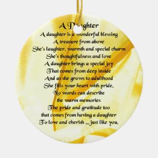 娘の詩-黄色い絹 セラミックオーナメント