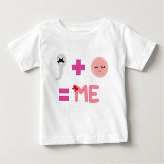 娘の誕生プロセス ベビーTシャツ