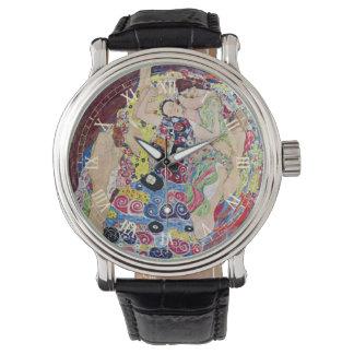 娘(ヴァージン)、グスタフのクリムト、ヴィンテージアールヌーボー 腕時計