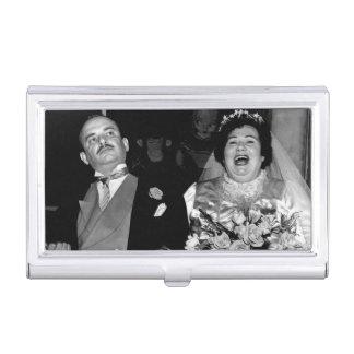 婚姻を結婚する幸せなカップルのヴィンテージ 名刺入れ