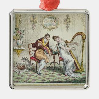 婚姻1805年の前の調和 メタルオーナメント
