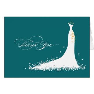婚礼衣裳のブライダルシャワーのサンキューカード(海) カード