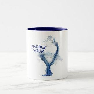 婚約したなマグを保って下さい ツートーンマグカップ