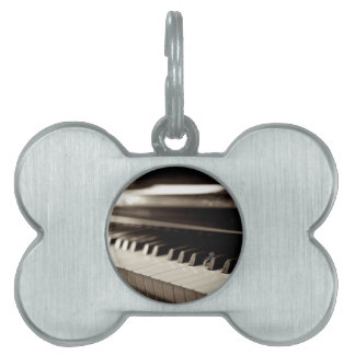 婚約のピアノ鍵 ペットネームタグ