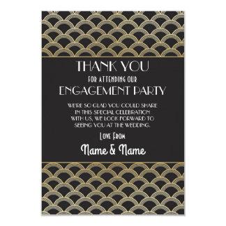 婚約の結婚式の20年代のパーティーの感謝ありがとう 8.9 X 12.7 インビテーションカード